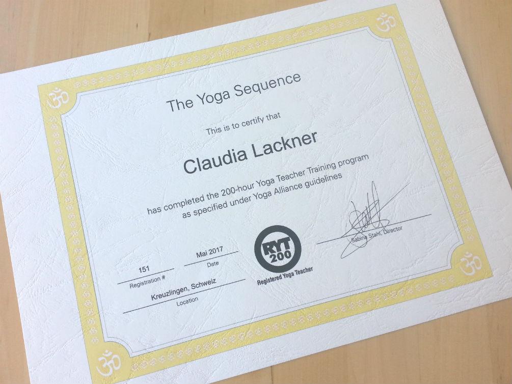 Yoga Ausbildung RYT 200
